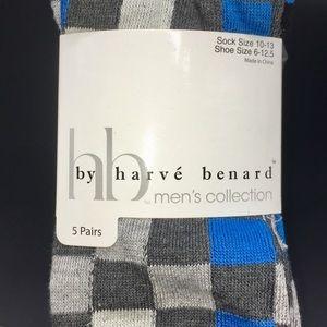 NWTS harvé benard Men's Set of 5 Prs Socks 🧦